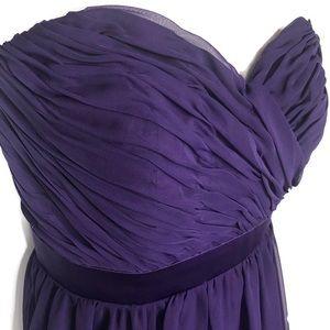 MoriLee by Madeleine Gardner Purple Strapless Gown